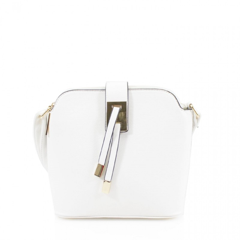 3 Section Crossbody Bag - White