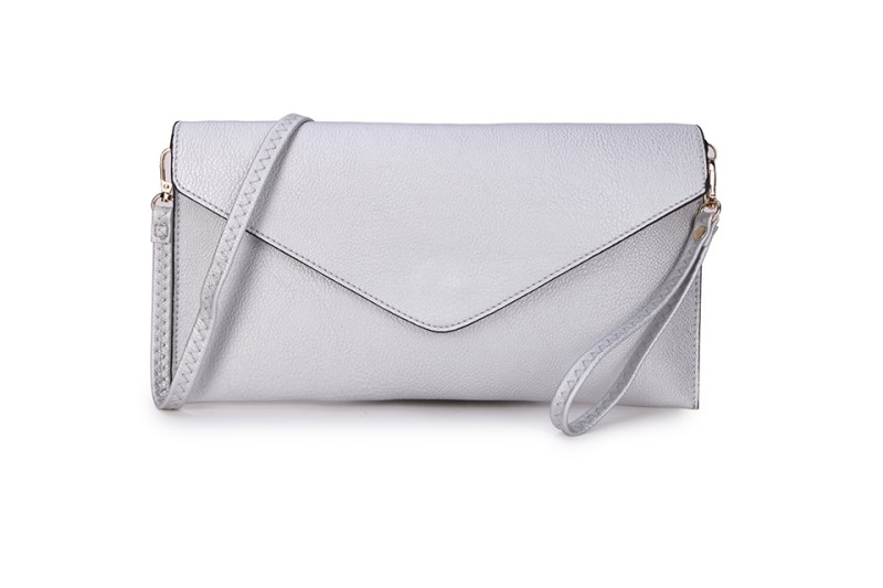 Envelope Clutch Bag - Silver