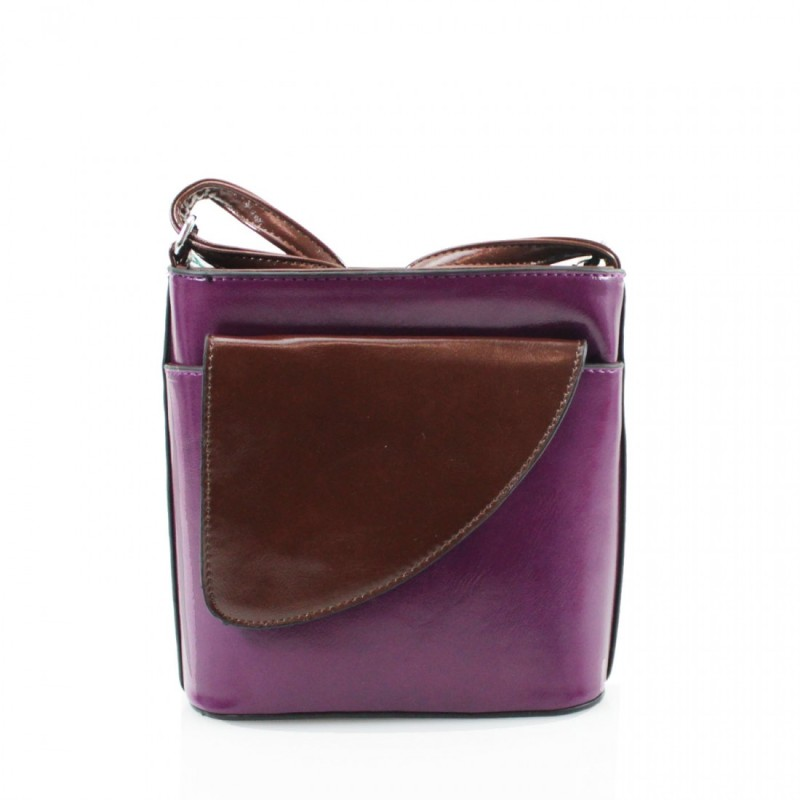 2 Tone Small Cross Body Handbag - Purple