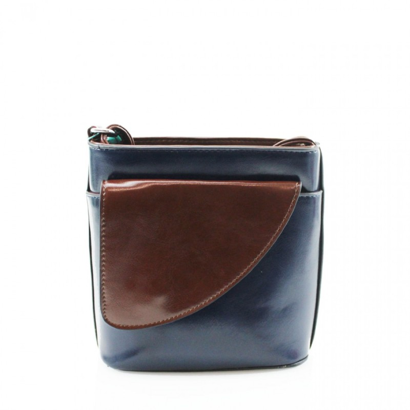 2 Tone Small Cross Body Handbag - Navy