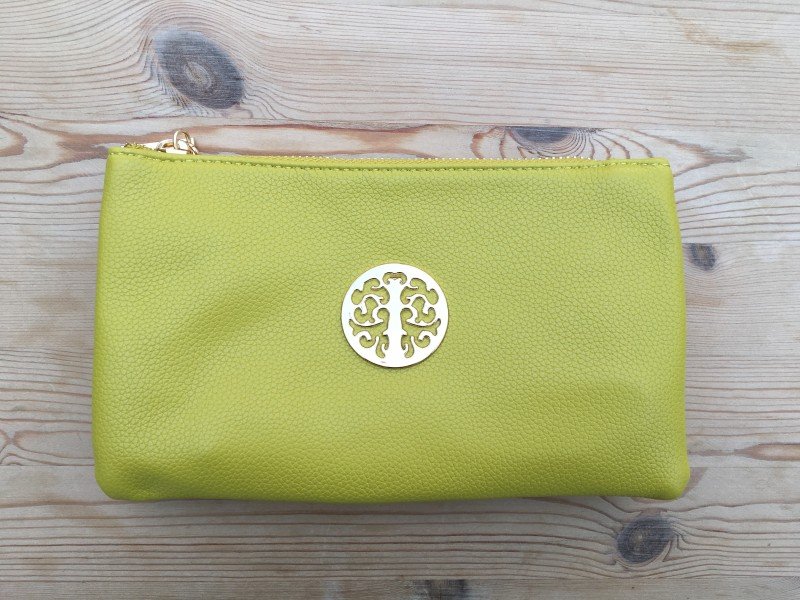 Emblem Cross Body/Wristlet Purse (Small 21x12.5cm) - Lime