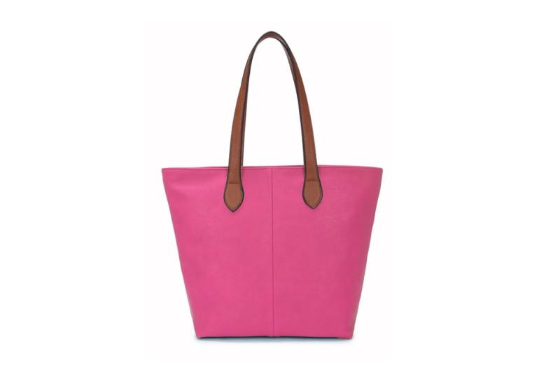 Bucket Bag with Contrast Handles - Fuchsia