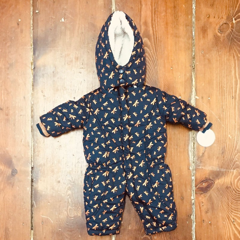 DIRKJE NAVY AND GOLD SNOWSUIT UP TO 1M