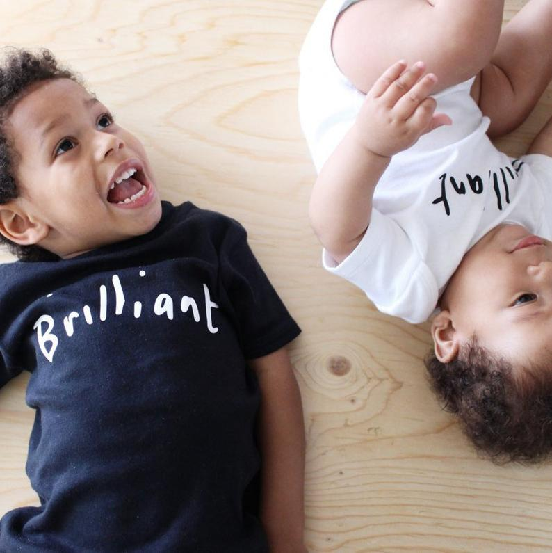 Brilliant Positivi-tee black t-shirt by HahOnline