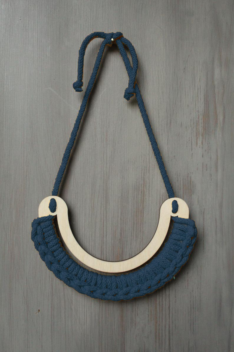 Ultimate Statement Necklace in Petrol Blue by Stitching Me Softly