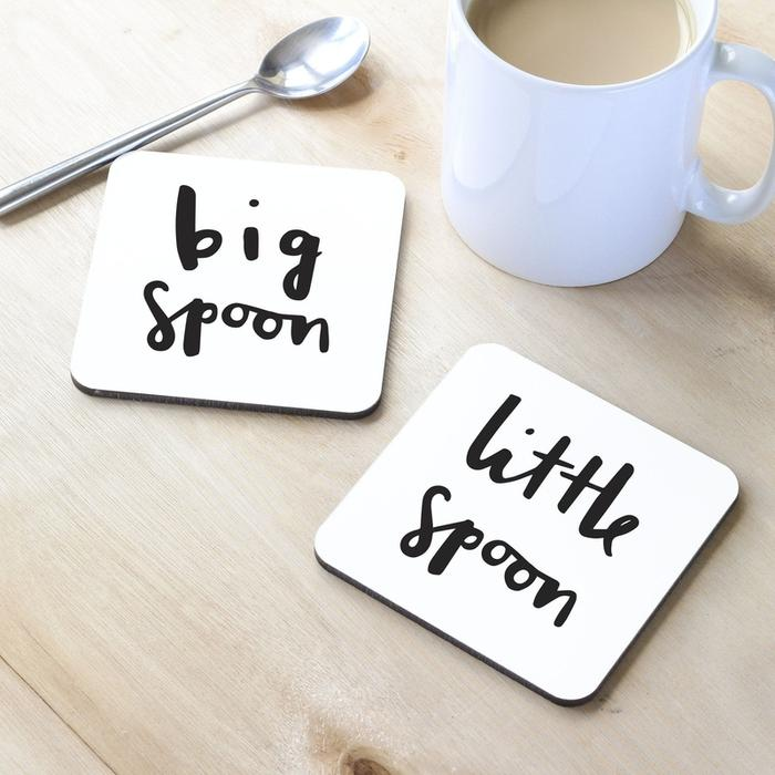 BIG SPOON LITTLE SPOON COASTER SET by Old English Co.