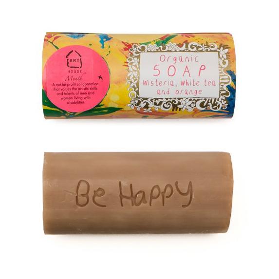 Wisteria, White Tea and Orange Organic Soap by Arthouse