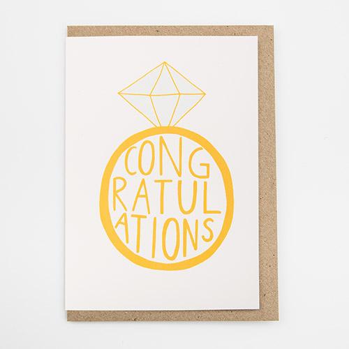 Congratulations card by Alison Hardcastle