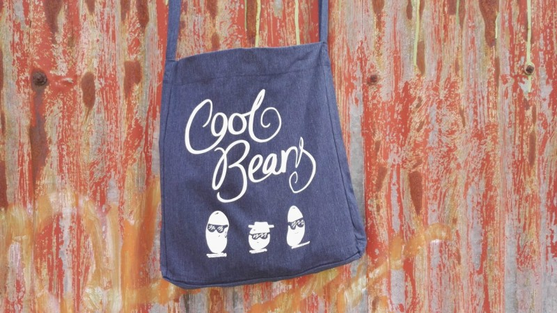 Recycled Sling Tote Bag Cool Beans by Jo Clark