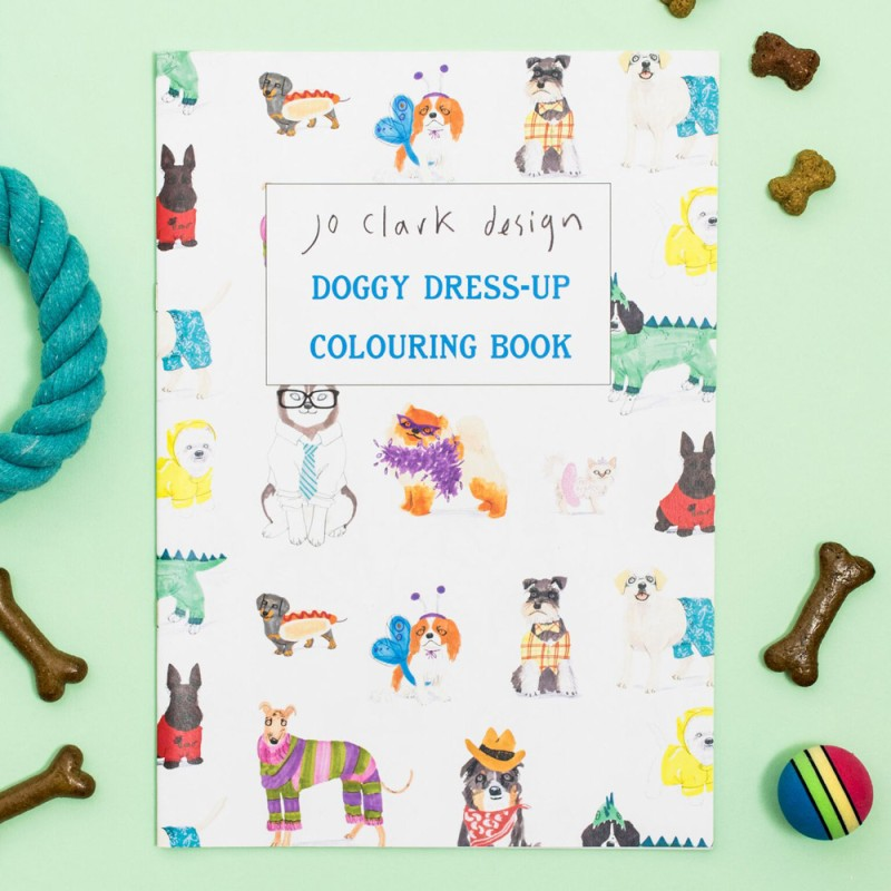 Doggy Dress-Up Colouring Book by Jo Clark