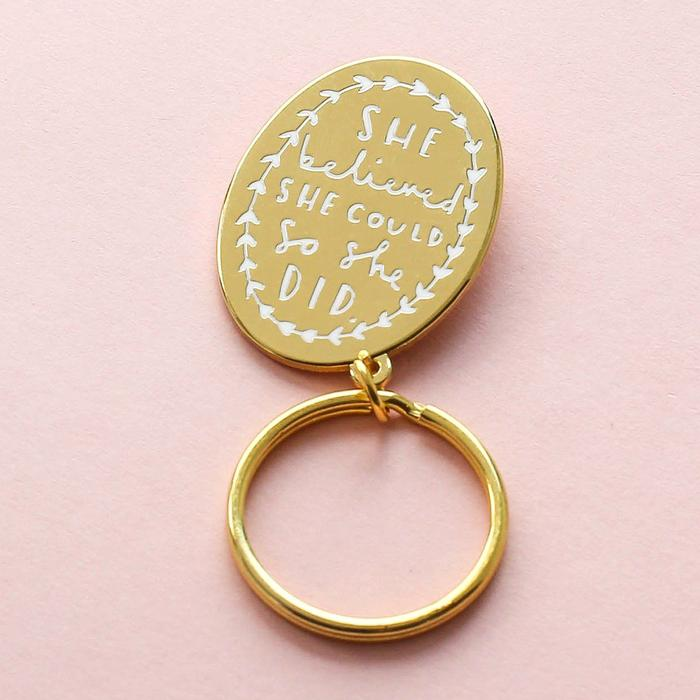 SHE BELIEVED SHE COULD KEYRING by Old English Co.