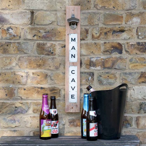 'Man Cave' magnetic bottle opener by Vintage Playing Cards