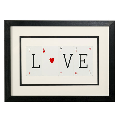 Love (with ace) Frame by Vintage Playing Cards
