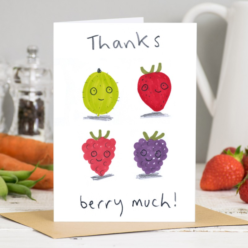 Thanks Berry Much Card by Jo Clark