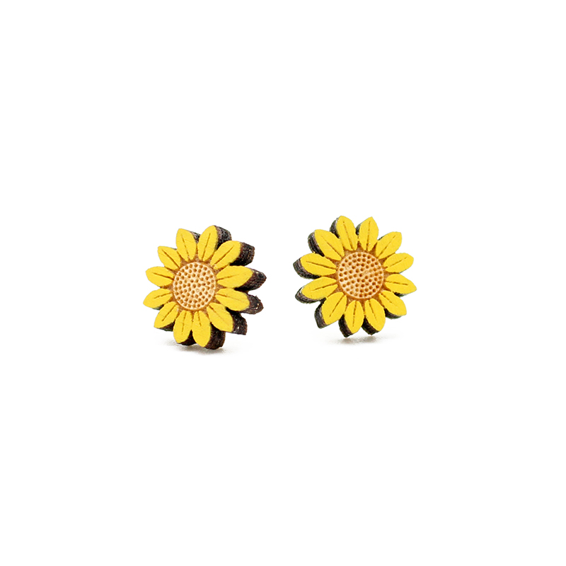 Sunflower Earrings by Layla Amber