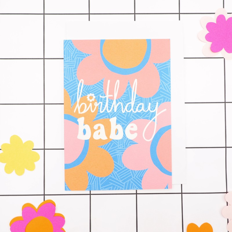 Birthday Babe Card by Harriet Emily