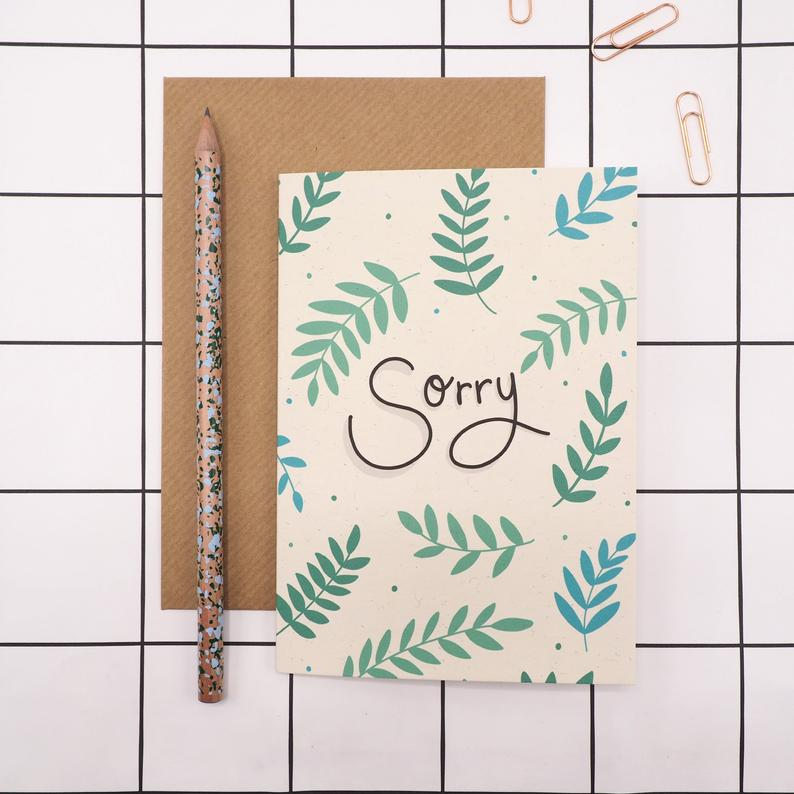 Sorry Card by Harriet Emily