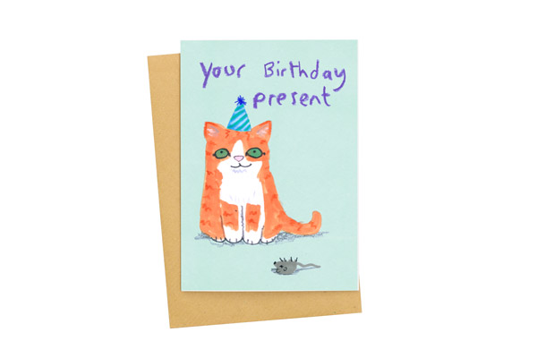 Your Birthday Present card by Jo Clark