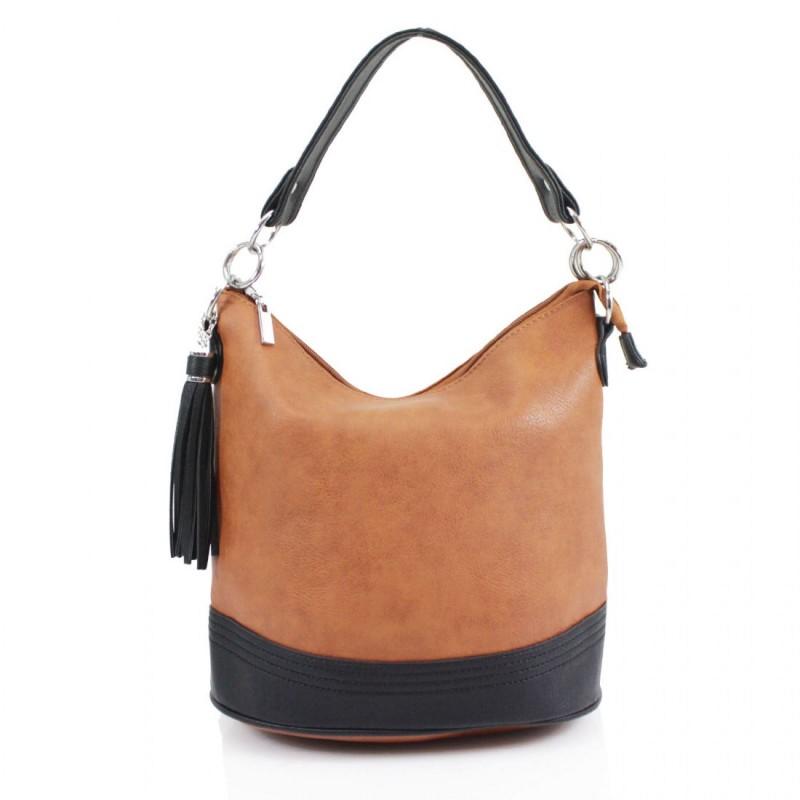 Tassel Bucket Bag - Tan