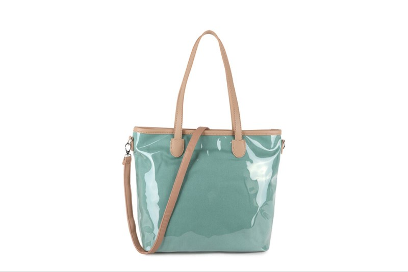 SALE PVC Bright Tote Bag - Mint