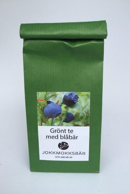 Grönt te med blåbär