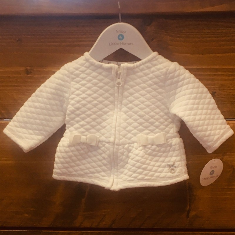 JASPER CONRAN JUNIOR J WHITE JACKET 0-3M