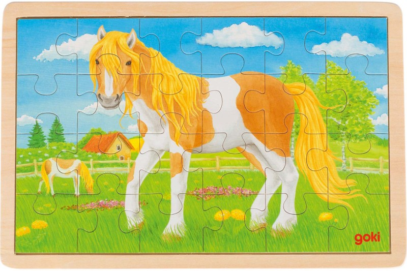 Puzzle, summer on the horse meadow