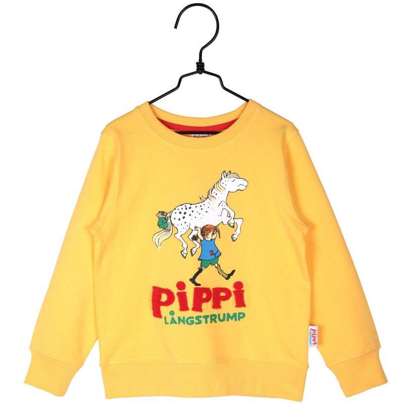 PIPPI LÅNGSTRUMP Pippi-collegetröja gul
