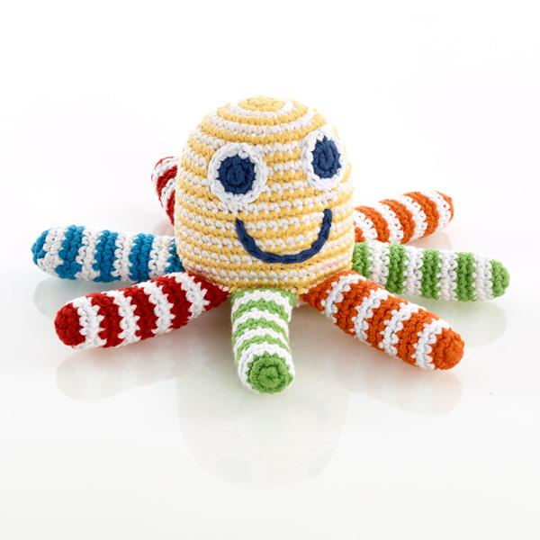 PEBBLE Skallra octopus gul