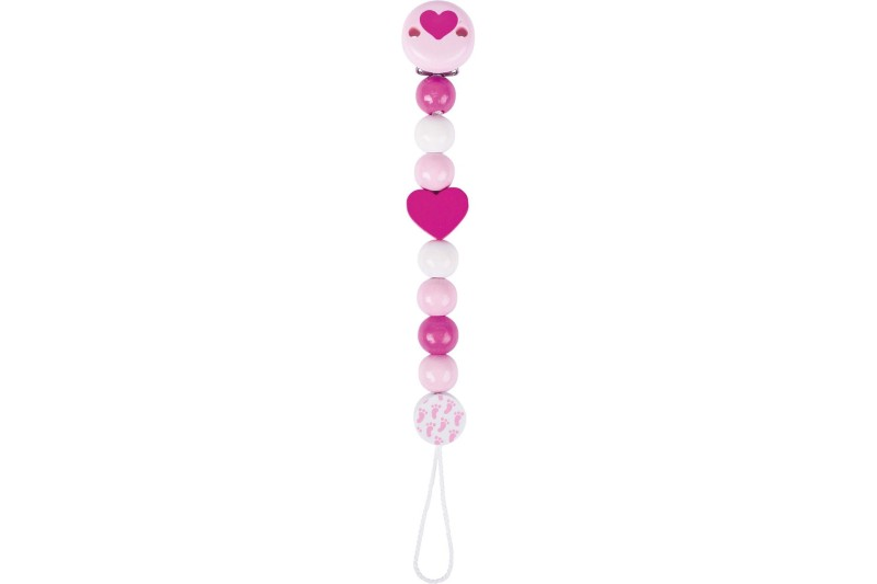 Soother chain heart