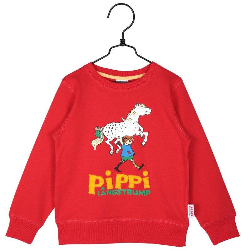 PIPPI LÅNGSTRUMP Pippi-collegetröja röd