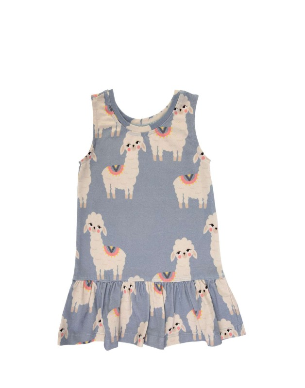 Llama dress BLUE