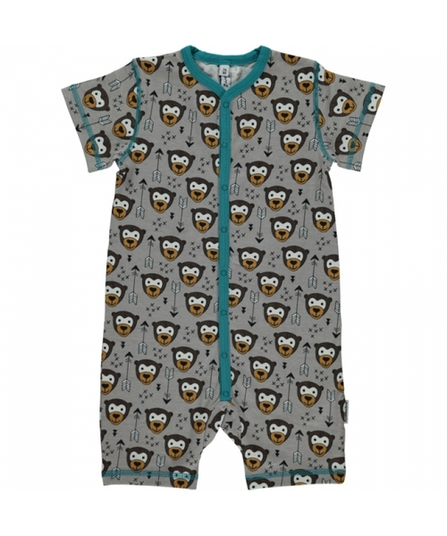 Rompersuit Button SS LITTLE ARROW MONKEY
