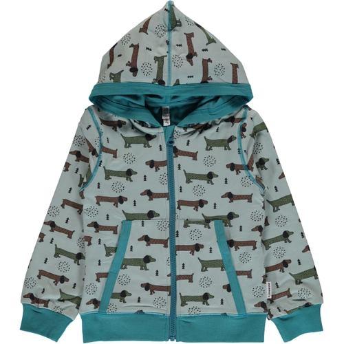 Cardigan Hoodie Dotted Puppy