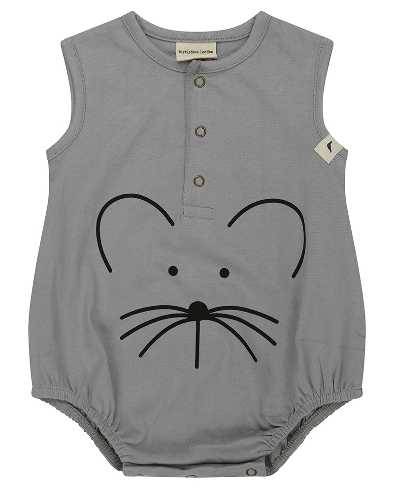 Bubble Romper Mouse Face