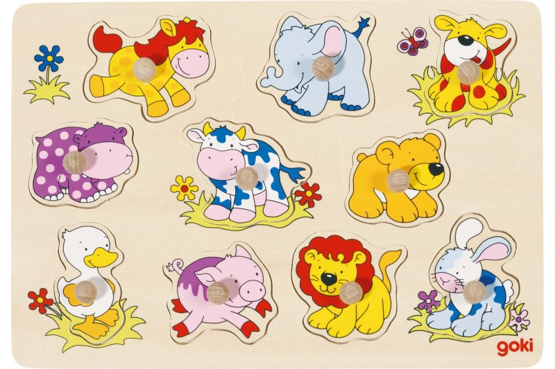 Lift out puzzle, baby animals II