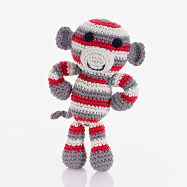 Monkey Rattle red