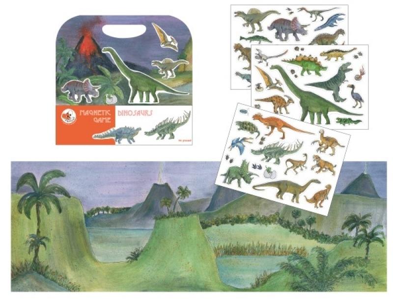 Magnetlek dinosaurier