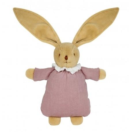 Kanin med linne, gammal rosa