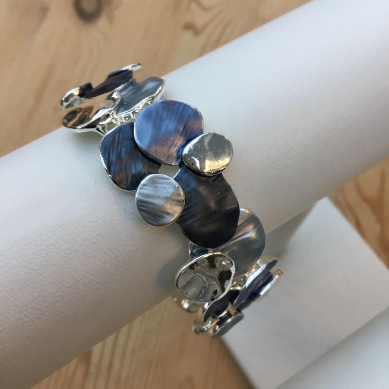 Disc Bracelet - Blue