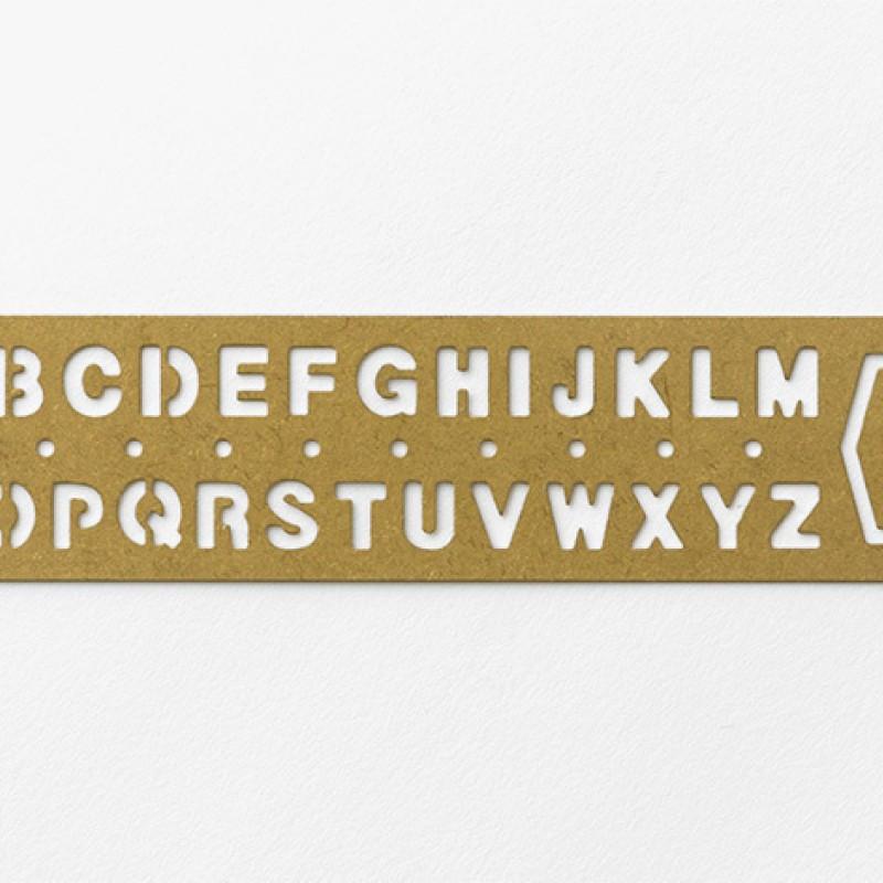 TRAVELER'S COMPANY | BRASS - Bookmark Alphabet