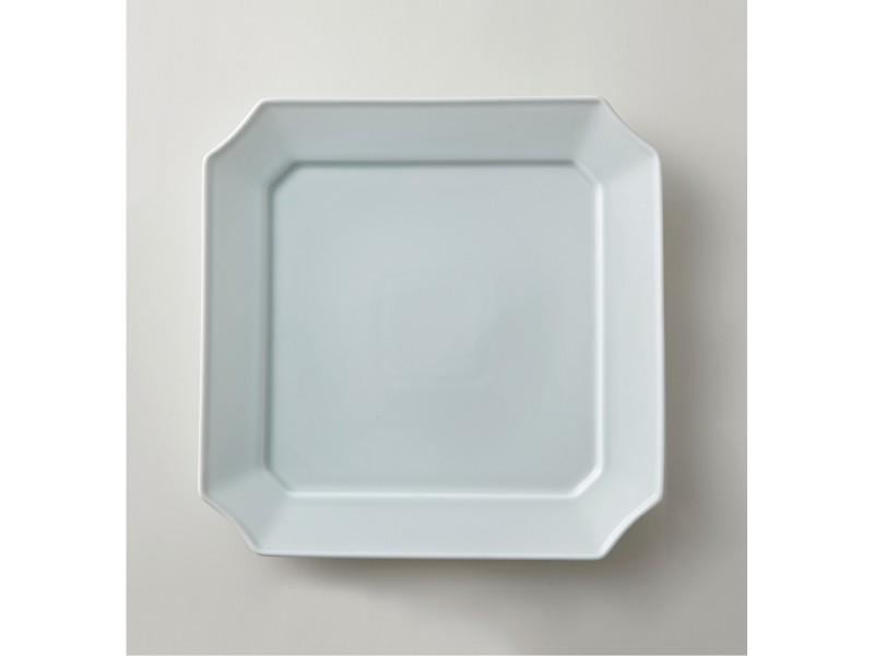 Square Dish 24cm Bluish-White | mizu mizu