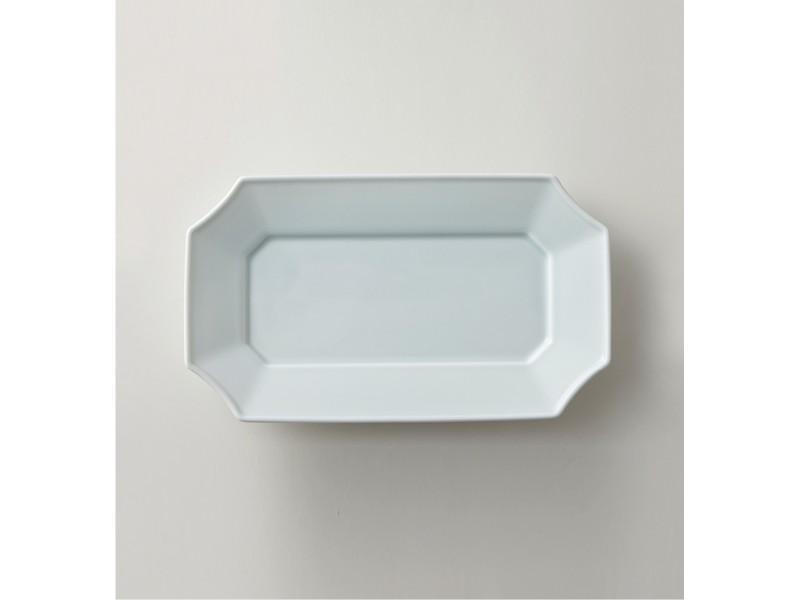 Long Dish 14cm Bluish-White | mizu mizu