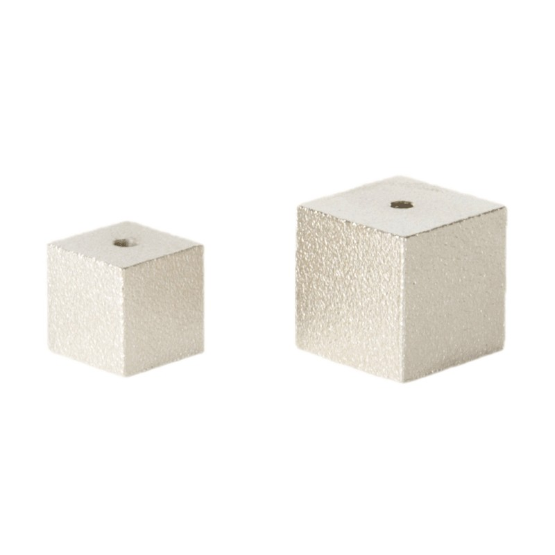 Cube Incense Holder - silver