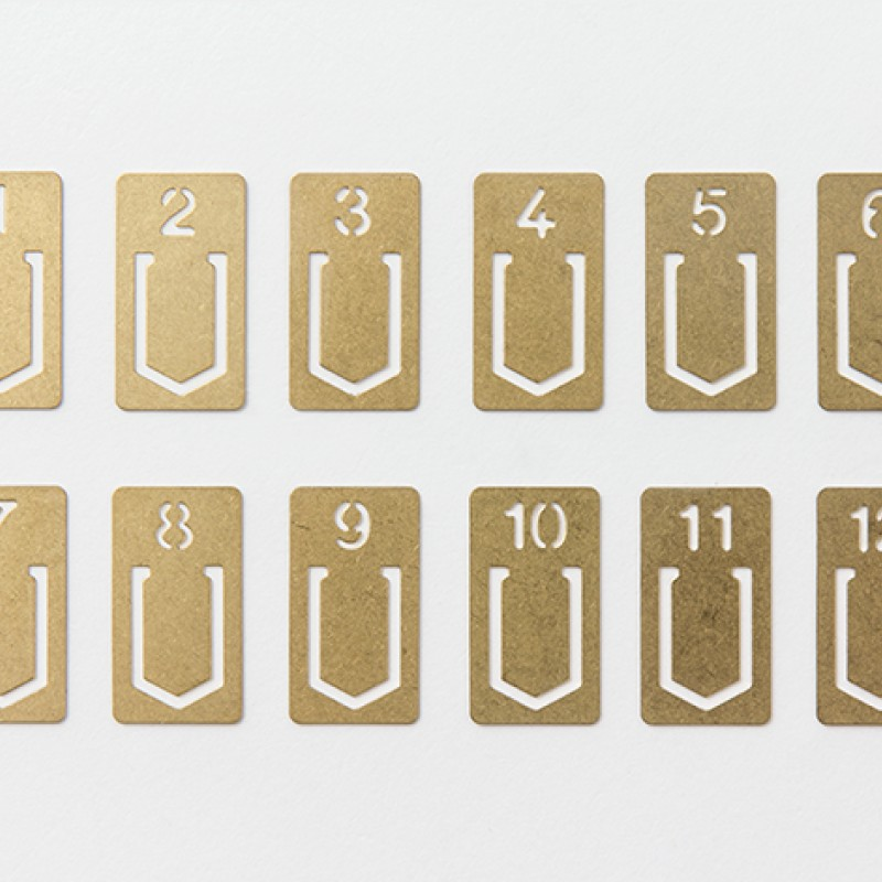 TRAVELER'S COMPANY | BRASS - Numbered Clips