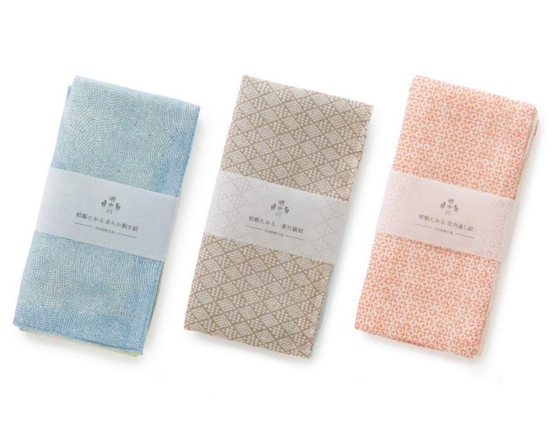 4 Layered Cotton towel (Edo Komon pattern)