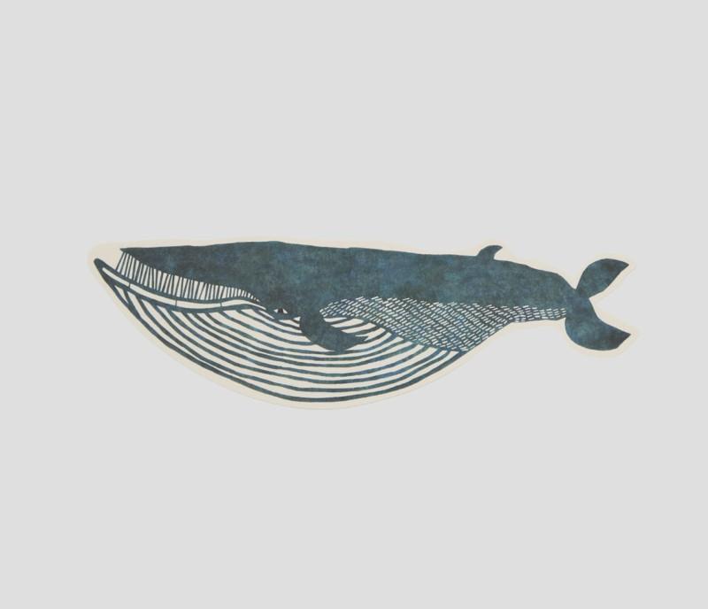 Giant die-cut postcard | Fin Whale