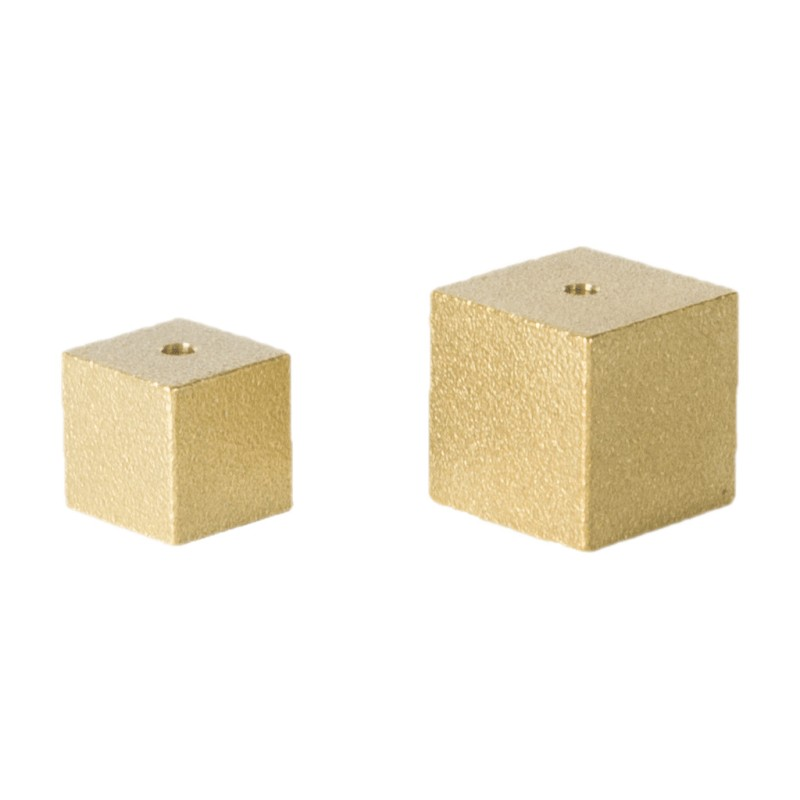 Cube Incense Holder - gold
