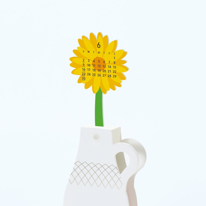 Calendar 2019 Flowers pop up | good morning Inc.