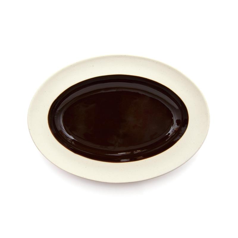 DAYS OF KURAWANKA | BISQUE BROWN - Oval plate | amabro